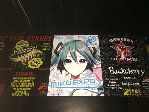 The plate of MIKU EXPO at The Bomb Factory in Dallas