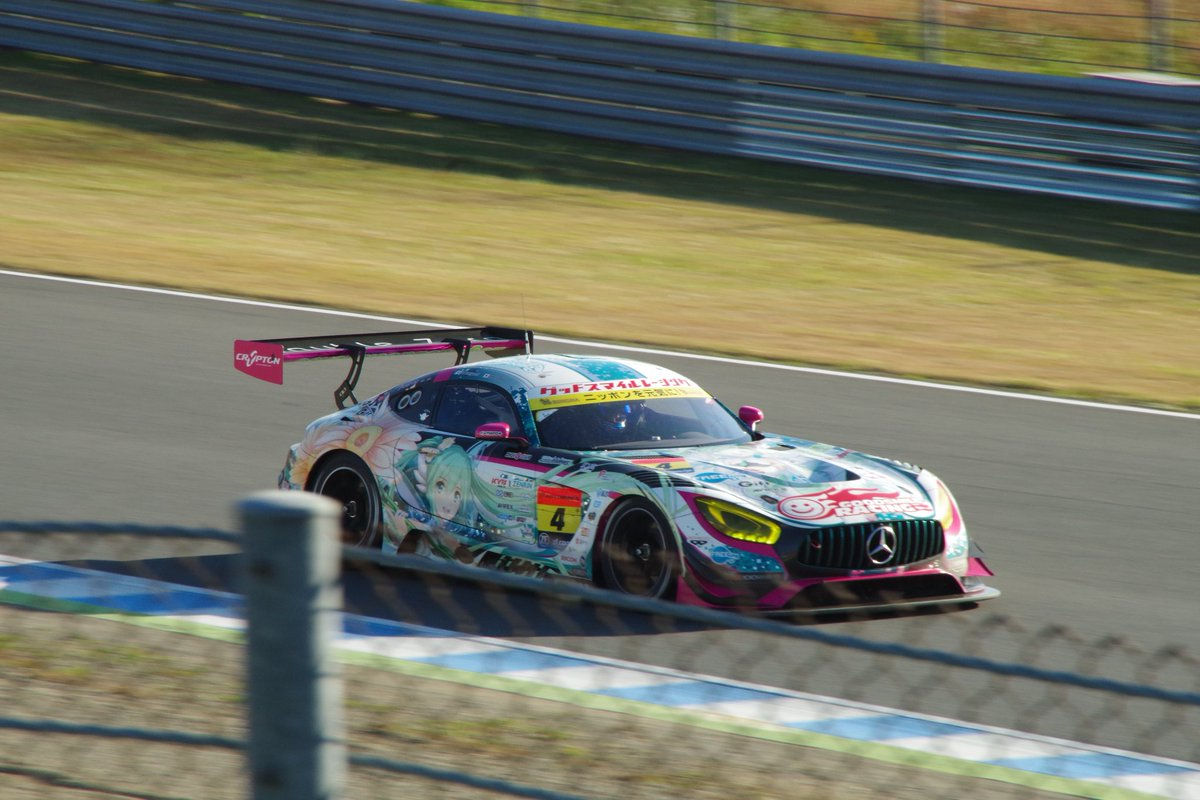 #4 GoodSmile Racing & Team Ukyo Hatsune Miku Mercedes AMG GT3 at Twing Ring Motegi